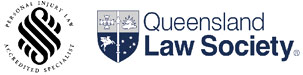 Personal Injury Law Accredited Specialist and Queensland Law Society Logos